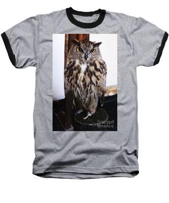 Yellow Owl Eyes Baseball T-Shirt