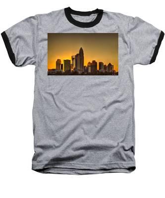 Golden Charlotte Skyline Baseball T-Shirt