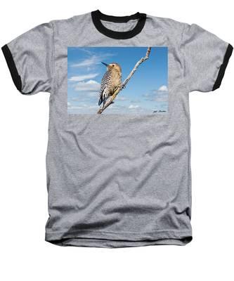 Male Gila Woodpecker Baseball T-Shirt