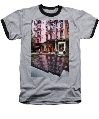 Baseball T-Shirt featuring the photograph New York Soho  by Juergen Held