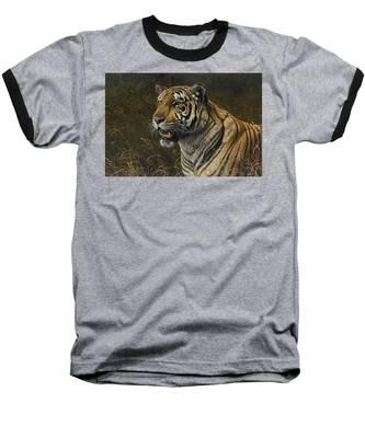 Tiger Portrait Baseball T-Shirt