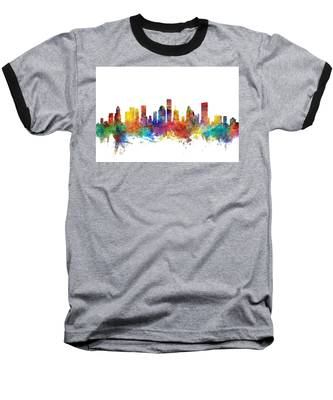 Houston Texas Skyline Baseball T-Shirt