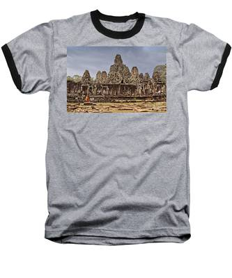 Baseball T-Shirt featuring the photograph Angkor Wat by Juergen Held