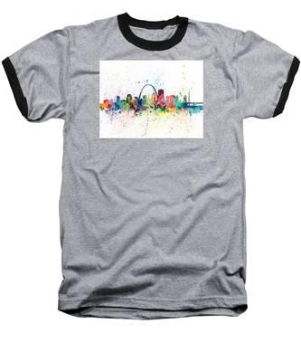 St Louis Missouri Skyline Baseball T-Shirt