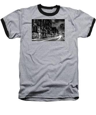 Savannah Georgia Waterfront And Street Scenes  Baseball T-Shirt