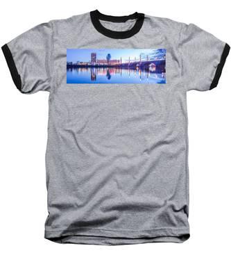 Springfield Massachusetts City Skyline Early Morning Baseball T-Shirt