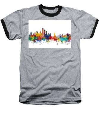 New York Skyline Baseball T-Shirt