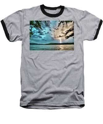Beautiful Landscape Scenes At Lake Jocassee South Carolina Baseball T-Shirt