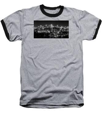 Birmingham Alabama Evening Skyline Baseball T-Shirt
