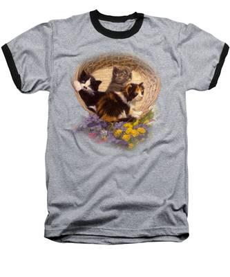 A Basket Of Cuteness Baseball T-Shirt