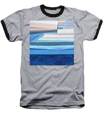 Abstract Swimming Pool Baseball T-Shirt
