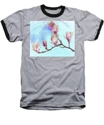 Art Magnolia Baseball T-Shirt