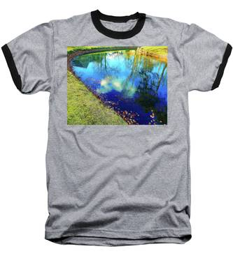 Autumn Reflection Pond Baseball T-Shirt