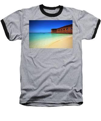 Beach Fort. Baseball T-Shirt by Evelyn Garcia