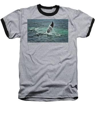 Bending The Water Baseball T-Shirt by Andrea Platt
