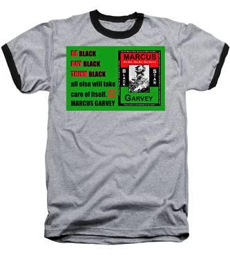 Black Star Garvey Baseball T-Shirt