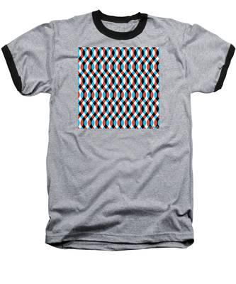 Brain Waves - Blue Baseball T-Shirt