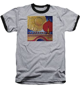 Bridge Between Sunrise And Moonrise Baseball T-Shirt