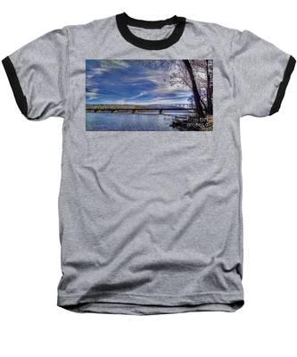 Bridge Over The Delaware River In Winter Baseball T-Shirt