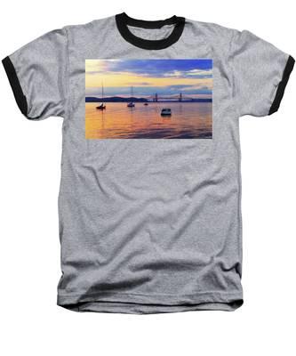 Bridge Sunset Baseball T-Shirt
