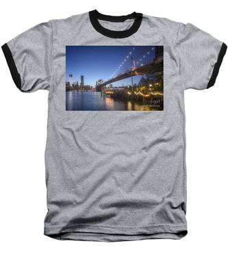 Baseball T-Shirt featuring the photograph Brooklyn Brdige New York  by Juergen Held