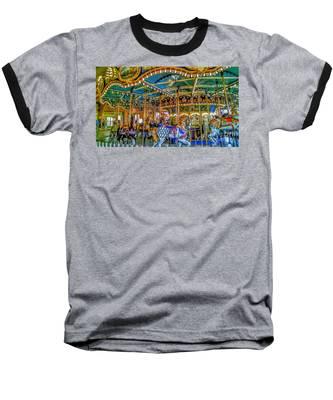 Carousel At Peddlers Village Baseball T-Shirt