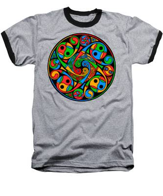 Celtic Stained Glass Spiral Baseball T-Shirt