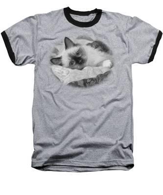 Charming - Black And White Baseball T-Shirt