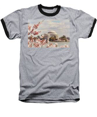 Cherry Blossom And Jefferson Baseball T-Shirt
