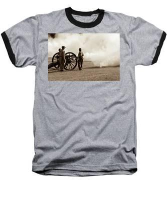 Civil War Era Cannon Firing  Baseball T-Shirt