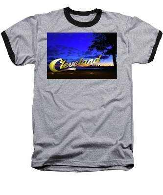 Cleveland Sign Sunrise Baseball T-Shirt