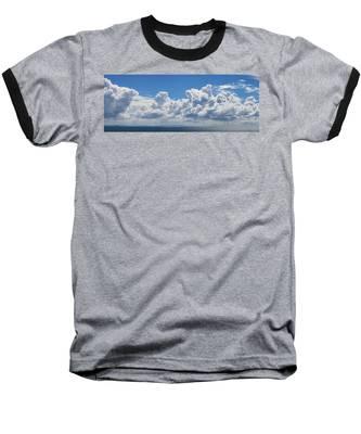 Clouds Over Catalina Island - Panorama Baseball T-Shirt
