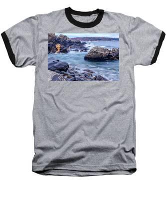 Coast Of Maine In Autumn Baseball T-Shirt