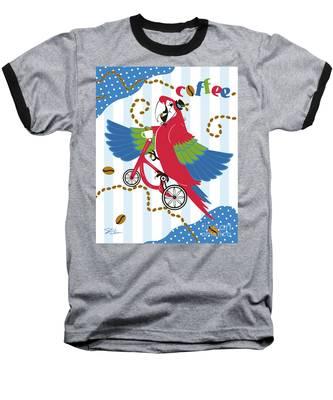 Coffee Parrot Baseball T-Shirt
