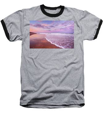 Cotton Candy Sunset. Baseball T-Shirt by Evelyn Garcia