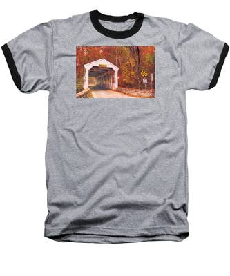 Covered Bridge At Valley Forge Baseball T-Shirt