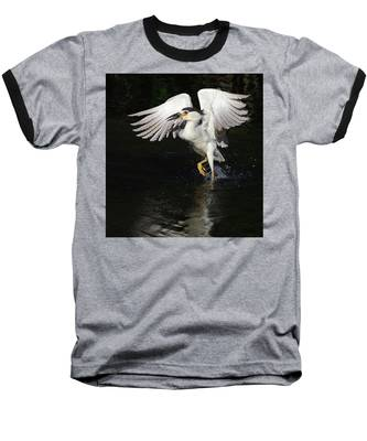 Dance On Water. Baseball T-Shirt by Evelyn Garcia