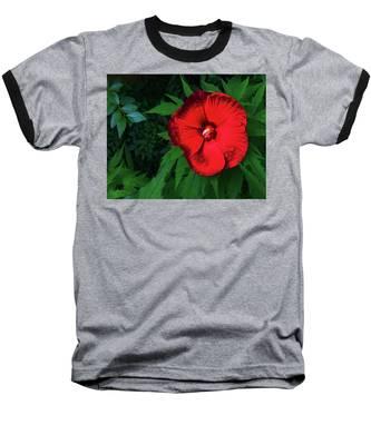 Dynamic Red Baseball T-Shirt