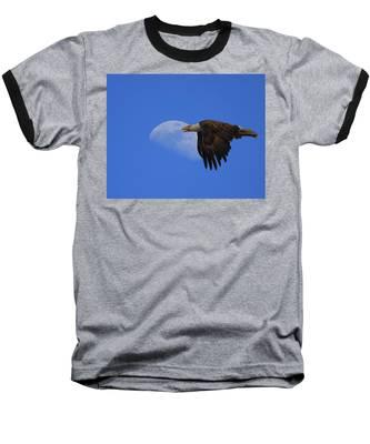 Eagle Moon Baseball T-Shirt