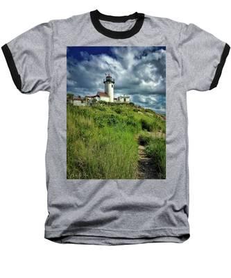 Baseball T-Shirt featuring the photograph East Point Lighthouse by Andrea Platt