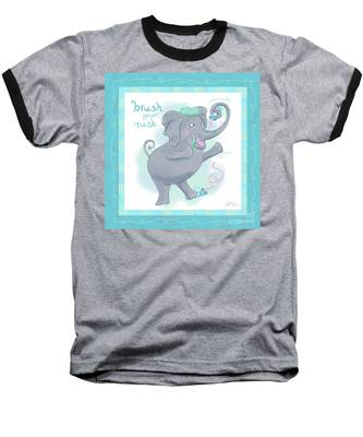 Elephant Bath Time Brush Your Tusk Baseball T-Shirt