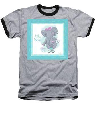 Elephant Bath Time Look Your Best Baseball T-Shirt