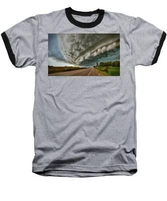 Face In The Storm Baseball T-Shirt by Andrea Platt