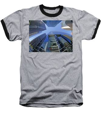 Baseball T-Shirt featuring the photograph Fitch Ratings Manhattan Nyc by Juergen Held