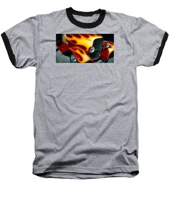 Flaming Hot Rod Baseball T-Shirt