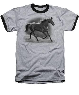 Free - Black And White Baseball T-Shirt