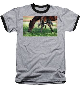 Baseball T-Shirt featuring the photograph Giddy Up. by Evelyn Garcia