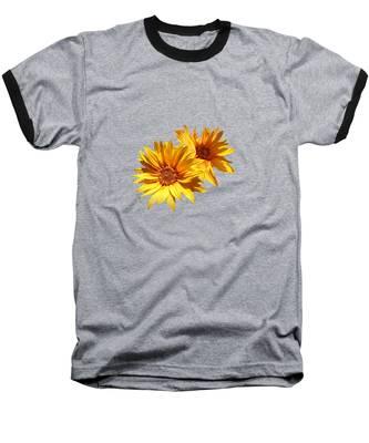 Golden Sunflowers Baseball T-Shirt
