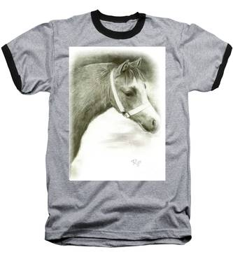 Grey Welsh Pony  Baseball T-Shirt