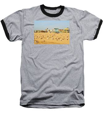Gulls On Sand Baseball T-Shirt